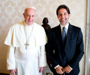 Salvatore Martinez con Papa Francesco