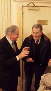 Pino Soriero e Romano Prodi