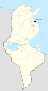 Sousse (Tunisia) - mappa Wikipedia