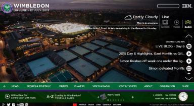 Home page sito Wimbledon 2015