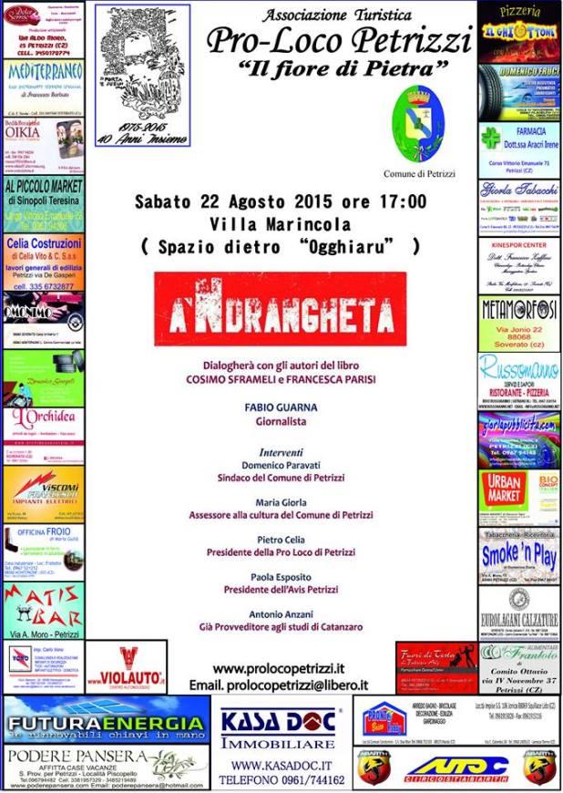 petrizzi locandina a 'Ndrangheta