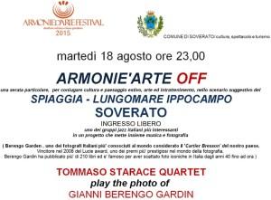 """Soverato – Martedì 18 agosto """"Armonie'Arte Off"""""""