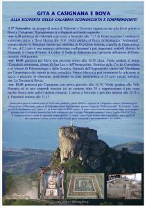 Il 27 Settembre gita da Soverato a Casignana e Bova ideata da Giuseppe Pisano