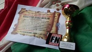 Forza Nuova Calabria spedisce premio al sindaco di Lampedusa