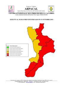 Aggiornamento Meteo, criticità rossa anche in provincia di Reggio Calabria