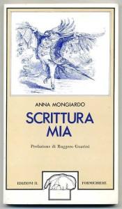 copertina libro SCRITTURA MIA di Anna Mongiardo