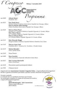 A Milano il Primo Congresso Nazionale sulla cataratta congenita organizzato da ACC