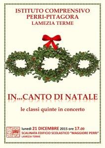"""Lamezia Terme – Lunedì 21 dicembre 2015 ore 17 """"In… canto di Natale"""""""