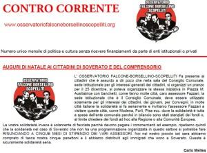 """Online il numero di dicembre del mensile """"Contro Corrente"""""""