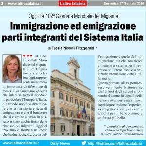 L'On. Fucsia Nissoli sulla 102ª Giornata Mondiale del Migrante