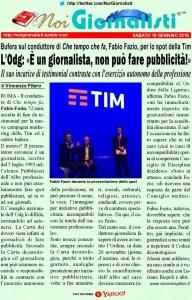 Fabio Fazio, lo spot della Tim e la deontologia dei giornalisti