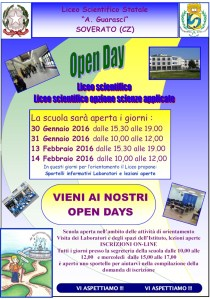 "Open Day al Liceo Scientifico ""A. Guarasci"" di Soverato"
