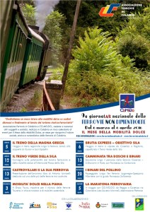 Mese della mobilità sostenibile: gli eventi di Associazione Ferrovie in Calabria