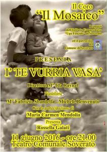 """Sabato 11 giugno concerto del coro """"Il Mosaico"""" al Teatro Comunale di Soverato"""