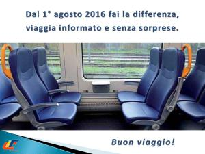 Trasporto Regionale: dall'1 agosto si rinnova il biglietto di Trenitalia