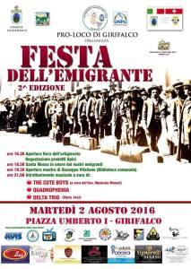 """Girifalco – Martedì 2 Agosto la """"Festa dell'Emigrante"""""""