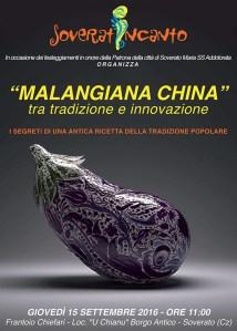 """Soverato Superiore – Giovedì 15 Settembre """"Malangiana china"""" tra tradizione e innovazione"""
