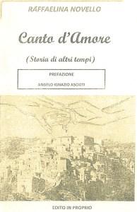 """L'Università delle Generazioni regala a tutti il libro """"Canto d'Amore"""" di Raffaelina Novello"""