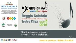 """Reggio, grandi eventi a dicembre per il progetto """"Musicando la scuola si AD…OPERA"""""""