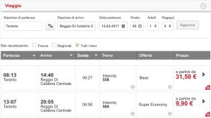Prenotabile il nuovo InterCity RC-TA via Jonica: tariffe ridotte ed agevolazioni per i pendolari