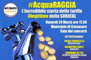 "Calabria: ""AcquaRaggia"", Parentela (M5S) annuncia evento-scoop su gestione Sorical"