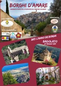 """Sabato 27 Maggio Badolato per la manifestazione regionale """"Borghi d'Amare"""""""