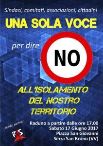 No all'isolamento dell'entroterra! Il 17 giugno giornata di mobilitazione a Serra San Bruno