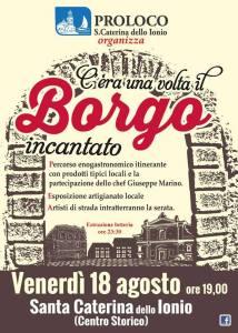 """S. Caterina dello Ionio – Stasera """"C'era una volta il Borgo incantato"""""""
