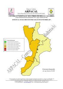 Allerta Meteo Arancione sulla costa tirrenica della Calabria
