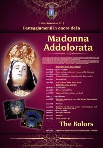 Pianopoli – Partono domani i festeggiamenti in onore della Madonna Addolorata, domenica il concerto dei The Kolors. Ingresso gratuito