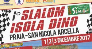 Rinviato al 10 dicembre lo Slalom Isola di Dino