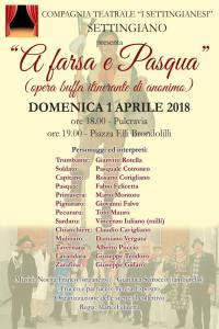 "Settingiano – La Compagnia Teatrale ""I Settingianesi"" presentano ""A Farsa e Pasqua"""