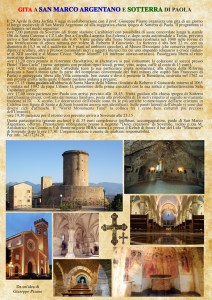 Gita da Soverato a San Marco Argentano e Sotterra di Paola