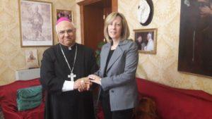 Catanzaro, la senatrice Vono (M5S) incontra l'arcivescovo Bertolone