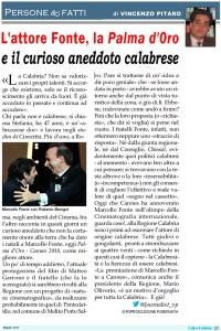 L'attore calabrese Marcello Fonte, la Palma d'Oro e il curioso aneddoto calabrese
