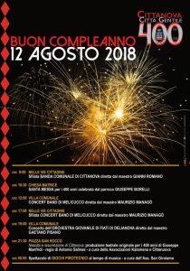 Buon compleanno Cittanova: il 12 agosto grande festa per i 400 anni
