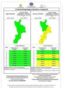 Maltempo – Allerta meteo della Protezione Civile per possibili temporali sulla Calabria