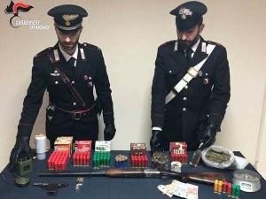 Trovato con armi clandestine e droga, 35enne arrestato