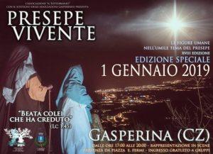 A Gasperina il primo gennaio Edizione Speciale del Presepe Vivente