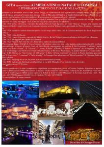Gita pomeridiana da Soverato alle luminarie e al centro storico di Cosenza