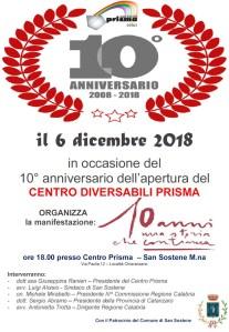 San Sostene – Decimo anniversario dell'apertura del Centro Diversabili Prisma