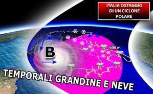 Allerta Meteo Calabria, in arrivo ciclone polare con vento e pioggia
