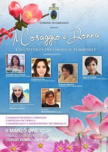 """Girifalco – Venerdì 8 marzo l'iniziativa """"Il coraggio è donna"""""""