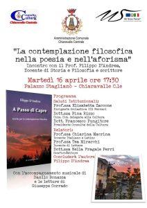 Chiaravalle Centrale, poesie e aforismi nei libri di Filippo D'Andrea