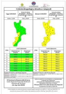 Diramata una nuova Allerta Meteo della Protezione Civile per la Calabria