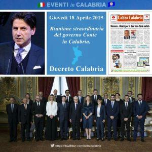 Consiglio dei Ministri il 18 aprile in Calabria