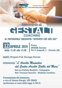 Il Centro Ascolto Stella del Mare ha organizzato un seminario di Gestalt Coaching a Soverato