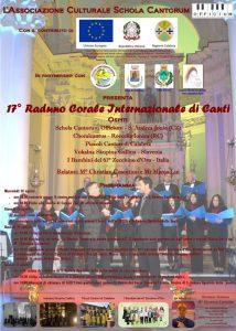 A S. Andrea Jonio e Soverato il 17° Raduno Corale Internazionale di Canti