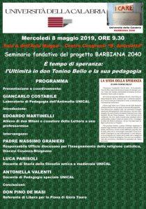All'Unical, seminario fondativo del progetto Barbiana 2040, per una Pedagogia degli Ultimi