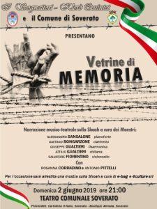 """Domenica 2 Giugno al teatro comunale di Soverato lo spettacolo """"Vetrine di Memoria"""""""